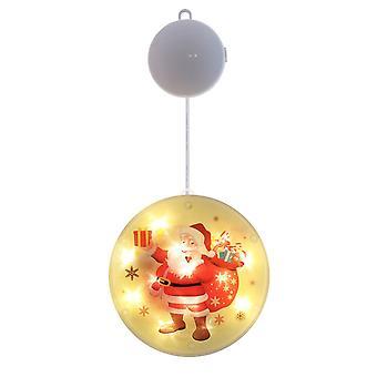 Julrunda ledde dekoration hängande ljusrumsgardin julgransprydnader