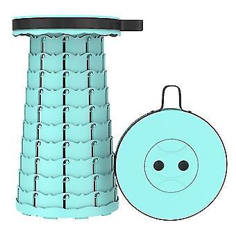 Tabouret télescopique pliant en extérieur, tabouret en plastique portable pour le camping et la pêche