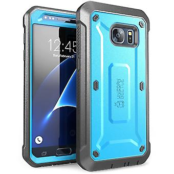 Samsung Galaxy S7, Supcase, Unicorn kever Pro serie, Screen Protector, Galaxy S7 geval, S7 geval-blauw/zwart