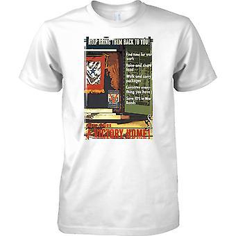 Casa victoria - cartel de Propaganda de la 2 ª Guerra Mundial - aliado guerra mundial - para hombre T Shirt