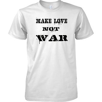 Make Love Not War - Anti-oorlog Statement - grappige Peace - Mens T Shirt