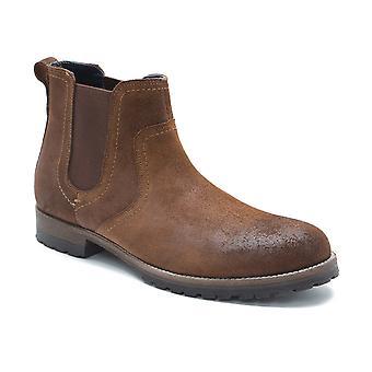 Administratieve rompslomp Clifton wasachtige hout bruin suède Chelsea Boots