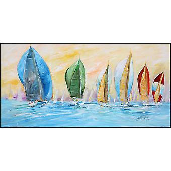 Sailboats on the water Indoor or Outdoor Runner Mat 28x58
