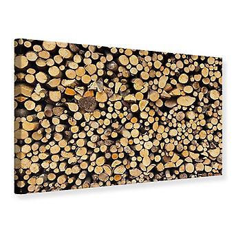 Leinwand drucken Brennholz