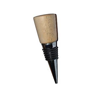 Le vin de bois arrête le vin arrêt vin fermeture vin stoepsel bouteille de bouchon de vin bouteille de bois en acier inoxydable bouleau en acier inoxydable maison fait idée cadeau unique