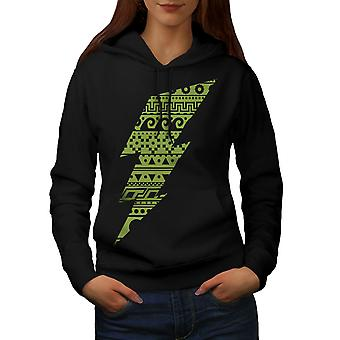 Flash merkki Aztects pelle naisten BlackHoodie | Wellcoda