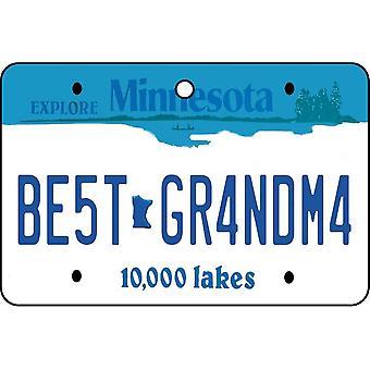 Minnesota - Best Grandma License Plate Car Air Freshener