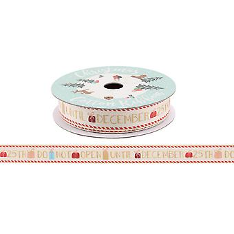 CGB Giftware Christmas Do Not Open Gift Ribbon (5m)
