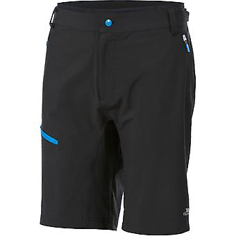 Trespass Mens Malaki Polyester Elastane Reflective Cycling Shorts
