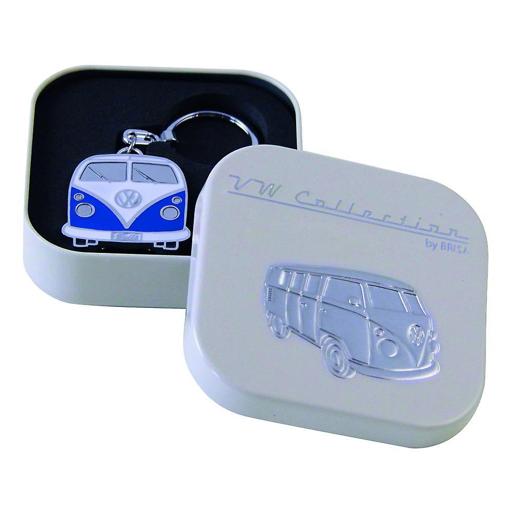 VW Collection Camper Van Metal Keyring in gift box - Blue