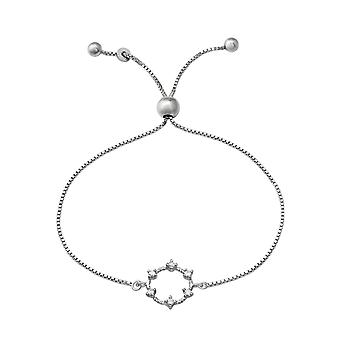 Wreath - 925 Sterling Silver Chain Bracelets - W37479x