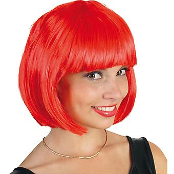 Neon Lola rouge Bob perruque poney cheveux courts