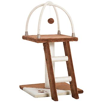 PawHut Cat Tree Activity Center Kitten Pet Scratching Post Climbing Tower with Plush Perch Hanging Toy Ladder 70cm Tall