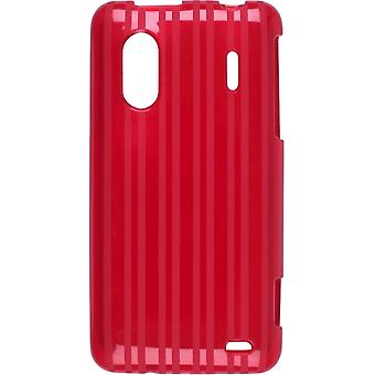 Raised Stripes TPU Dura-Gel Case for HTC EVO Design 4G, Hero S (Red)