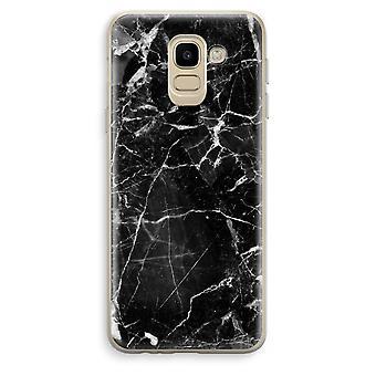 Samsung Galaxy J6 (2018) läpinäkyvä kotelo (pehmeä) - mustasta marmorista 2