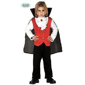 Guirca vampiro clássico traje para crianças Conde Drácula Júnior traje de Halloween