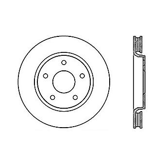 StopTech 128.67069R Sport Cross Drilled Brake Rotor; Front Right