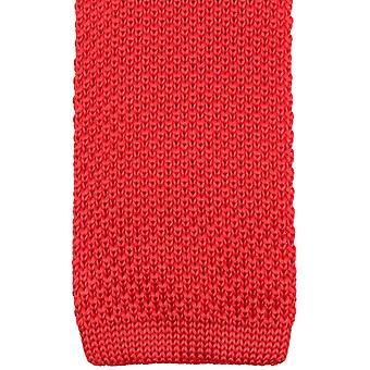 Knightsbridge gravatas de malha gravata - vermelha