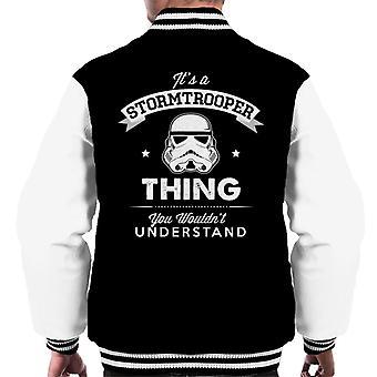 Originele Stormtrooper zijn A Trooper ding mannen Varsity Jacket