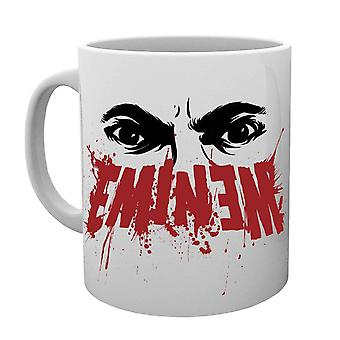 Official Eminem Mug Eyes logo Slim Shady kamikaze Marshall Mathers White boxed