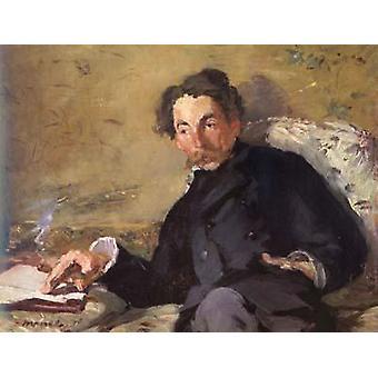 Stephane Mallarme, Edouard Manet, 27.5 x36cm