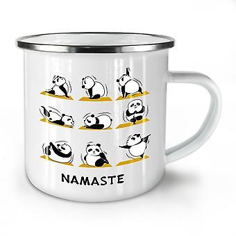 Yoga Poses Funny NEW WhiteTea Coffee Enamel Mug10 oz | Wellcoda
