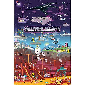 العالم Minecraft وراء الملصقات