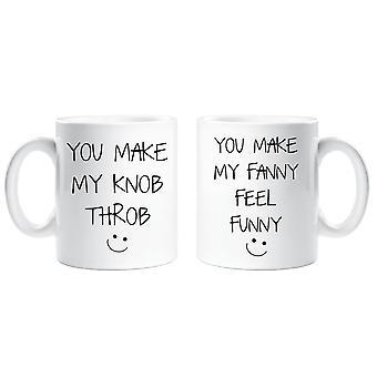 Możesz zrobić mój puls pokrętło zrobić mi czuć Fanny Kubek ceramiczny zestaw