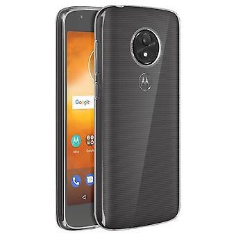 Silikon case, glansigt & Matt bak skal till Motorola Moto E5 spela - Transparent