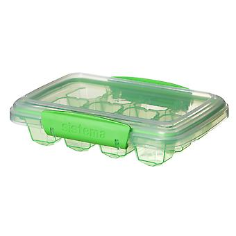 Sistema Medium Klip It Ice Cube Tray, Green
