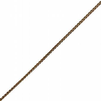 18ct Gold 0.9mm wide bright cut Spiga Pendant Chain 24 inches