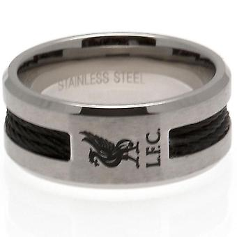 Liverpool FC schwarz Inlay Ring