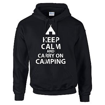 Keep Calm and Carry felpa con campeggio