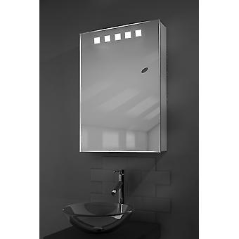 Deva LED Illuminated Mirror Cabinet With Sensor & Shaver k259aud