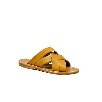 K.jacques Tortelopulnaturel Women's Brown Leather Sandals