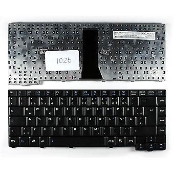 Asus MP-06916 D 0-5281 黒のドイツ語のレイアウトの交換ノート パソコンのキーボード