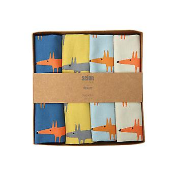 Scion Mr Fox Set of 4 Napkins, Multi