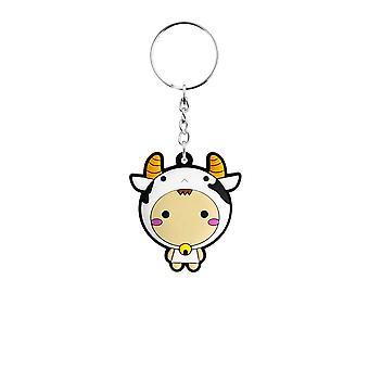 Grindstore Kawaii Cow Rubber Keychain