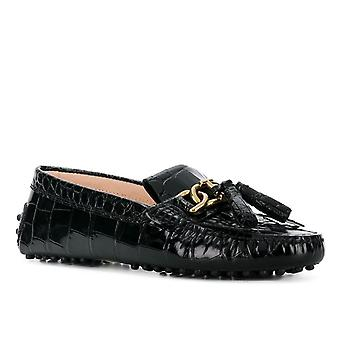 Tod's Xxw00g0ab70wenb999 Women's Black Leather Loafers
