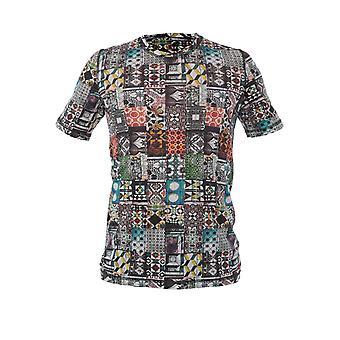 120% P0m7186000f614301p050 Men's Multicolor Linen T-shirt