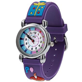 Relda Girl's-Children Time Teacher 3D Birthday Party Silicone Strap Watch + Telling The Time Award