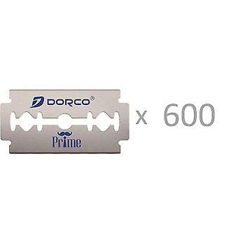 600pcs (120x5) Dorco Prime Platinum dubbel kant rakblad för säkerhet Razor Double Edge rakhyvel,