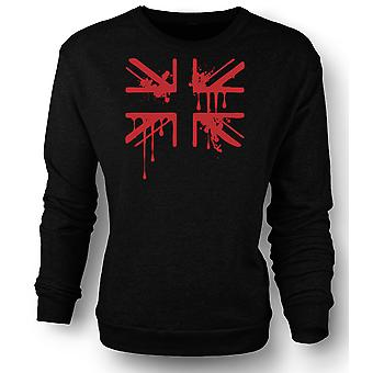 Felpa Mens Grunge sangue Union Jack