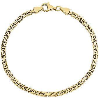 King bracelet 925 sterling silver gold plated 19 cm bracelet diamantiert