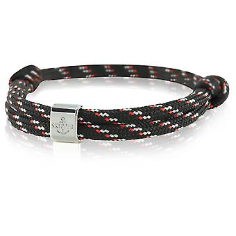 Skipper Armband Charm Knot Maritieme Armband Zwart/Rood/Grijs 6792