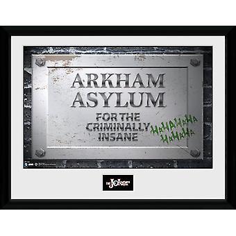 Batman Comic Batman: Arkham Asylum Schild gerahmt Collector Print 40x30cm