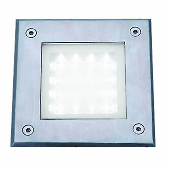 Led Square Outdoor Walkover Ground Light White And Glass Ip67