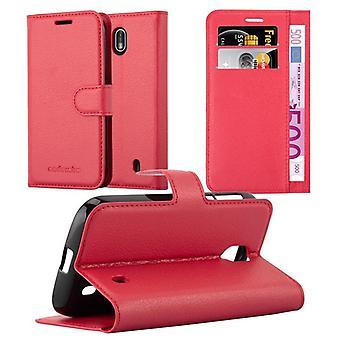 Cadorabo Caja para Nokia 1 2017 Funda de la caja - Funda del teléfono con cierre magnético, función del soporte y compartimiento de la caja de la tarjeta - caso de la caja de la caja del caso del libro plegable del libro plegable del caso