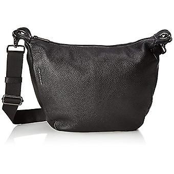 الماندرين بطة يانع الجلود حزام حقيبة المرأة السوداء 11x28x30 سنتيمتر (B x H x T)