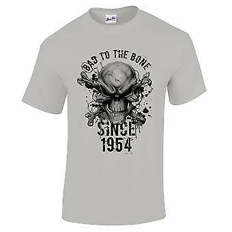 Men's 65th Birthday T-Shirt Bad To The Bone 1954 Prezenty dla niego